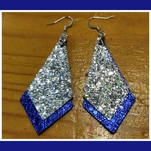 3/$20 Dazzling Two Layer Faux Leather Earrings